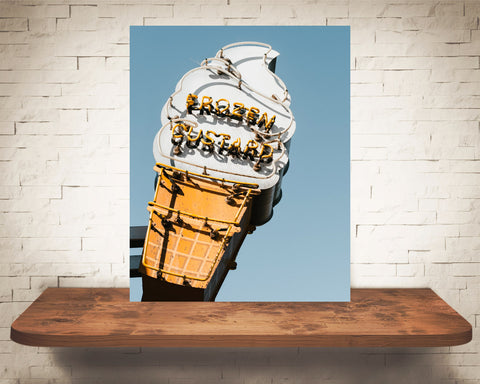 Ice Cream Sign Photograph