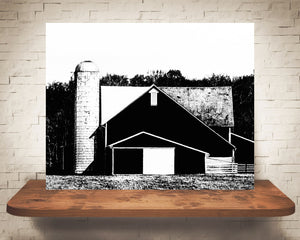 Barn Photograph Black White