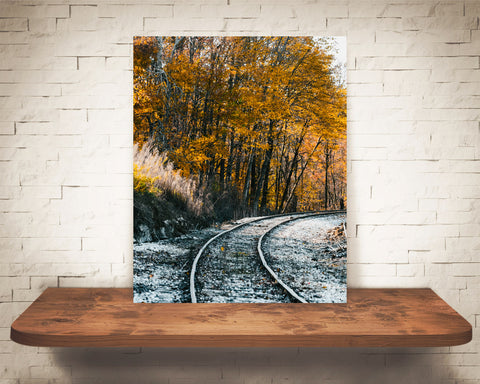 Fall Railroad Photograph