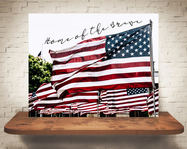 American Flag Quote Photograph
