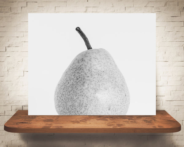 Pear Photograph Black White