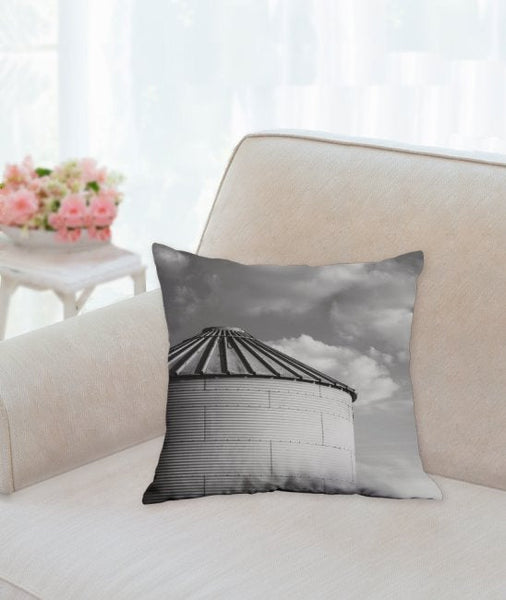 Silo & Clouds Pillow Cover