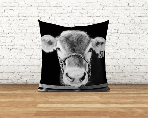 Brown Swiss Cow Pillow Cover