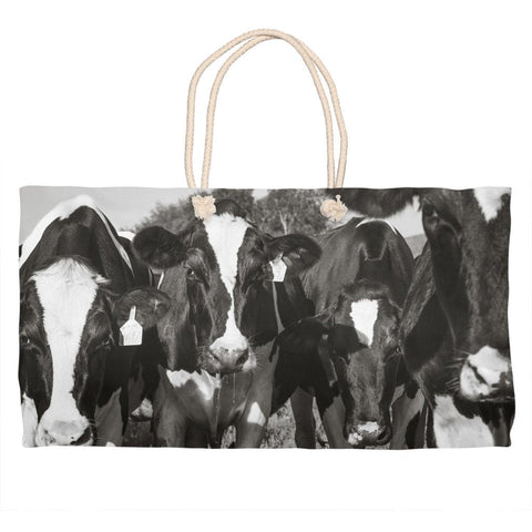 Cow Market Tote Bag - Cows Weekender Bag