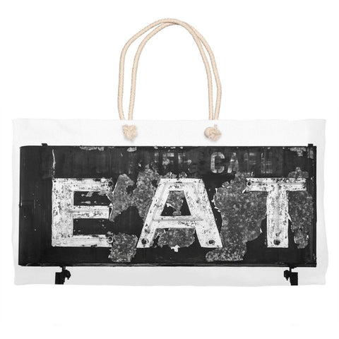 Vintage Eat Sign Market Tote Bag - Weekender Bag