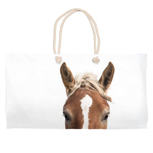 Horse Market Tote Bag - Weekender Bag