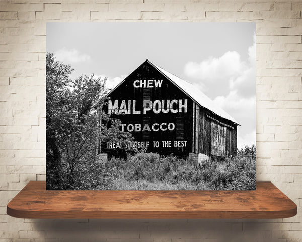 Mail Pouch Barn Photograph Black White