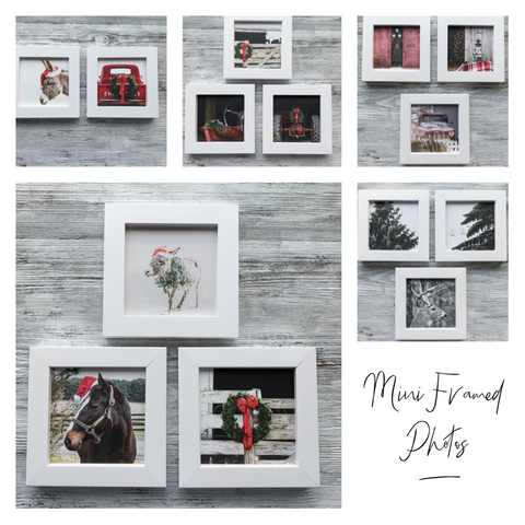 Mini Framed Christmas Photos