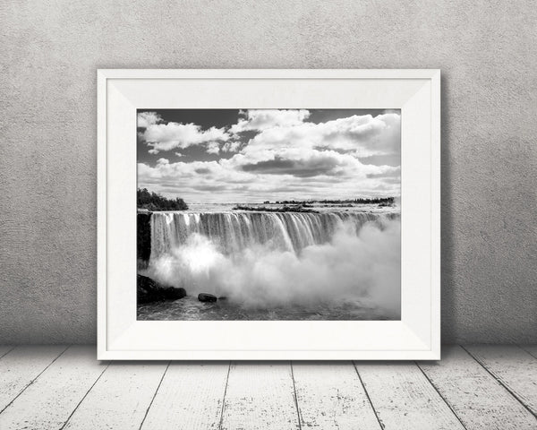 Niagara Falls Photograph Black White
