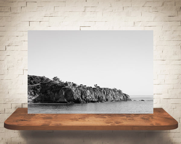 Ocean Rocky Coast Photograph Black White
