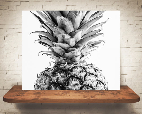 Pineapple Photograph Black White