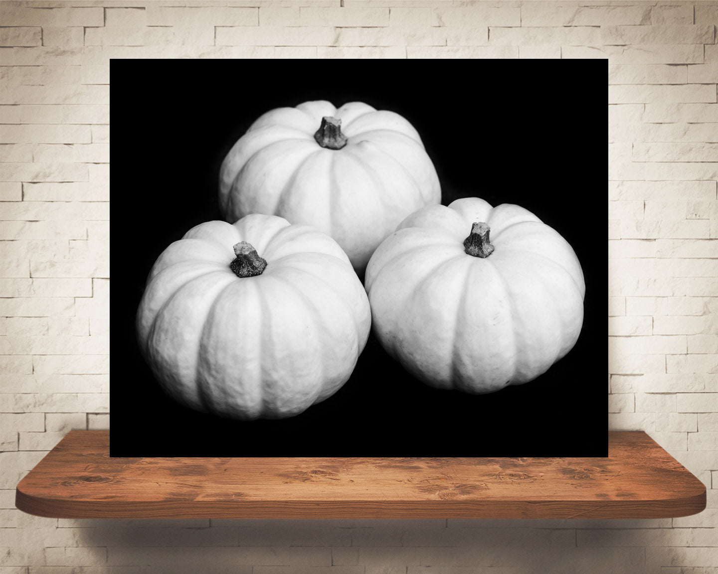 Pumpkin Photograph Black White