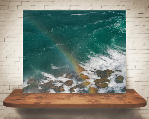 Rainbow Over Water Photograph