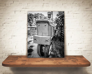 Tractor Photograph Black White
