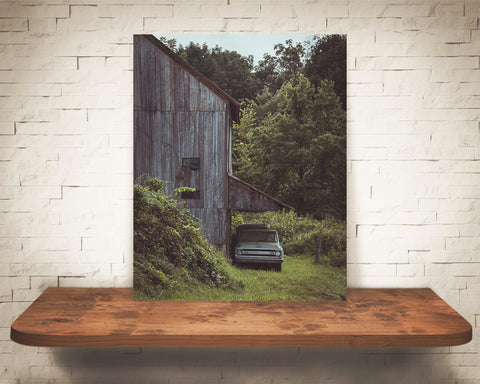 Vintage Truck Barn Photograph