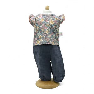 Trousers Flowered Blouse - 45 cm