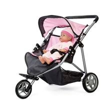 Laden Sie das Bild in den Galerie-Viewer, DOLL TWIN BUGGY