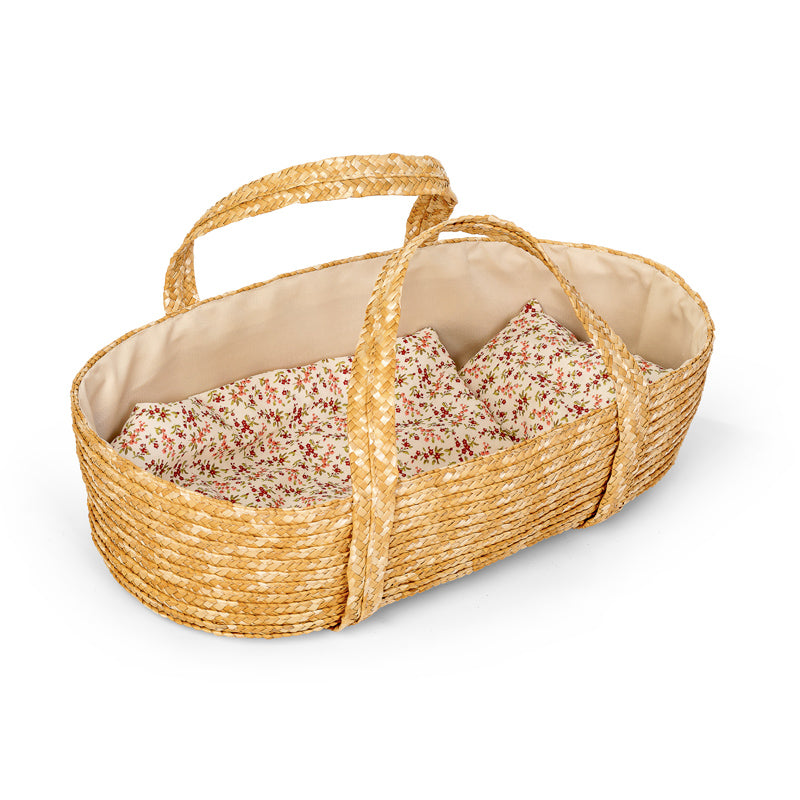 MOSES BASKET W/BED SET, 50 CM.
