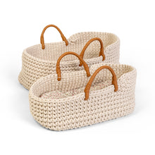 Laden Sie das Bild in den Galerie-Viewer, KNITTED DOLL BASKET 35 cm