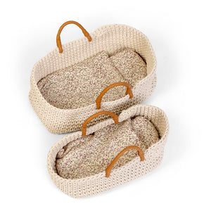KNITTED DOLL BASKET 35 cm