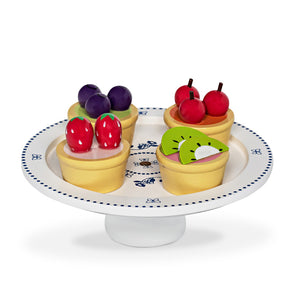 PIES ON CAKE STAND W/LID