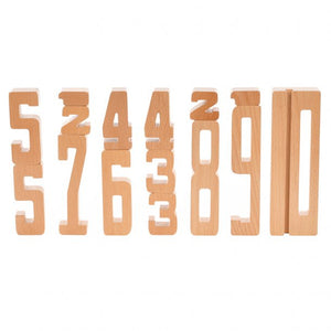 WOODEN NUMBERS, 15 PCS.