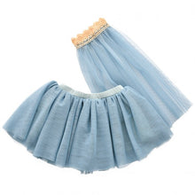 Laden Sie das Bild in den Galerie-Viewer, DOLL TULLE SKIRT W/VEIL- PETROL