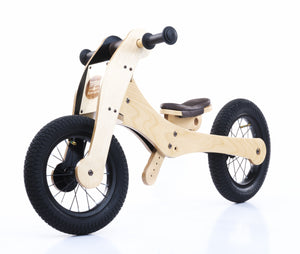 Trybike Wood 4 in 1 Bike Braun