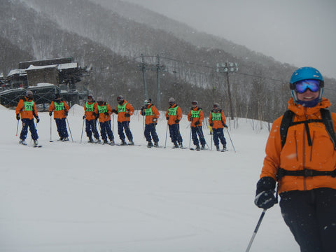 Resort skiing in Japan
