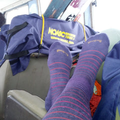 Fashionable compression socks are great for long road trips