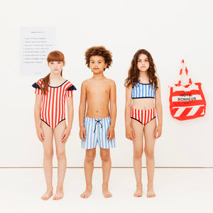Tiny Cottons STRIPES & FRILLS SWIMSUIT