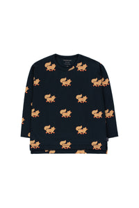 "Tiny Cottons ""FOXES"" TEE - Navy"