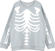 Load image into Gallery viewer, Beau Loves Washed Slate Skeleton Sweater