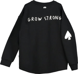 Beau Loves Black Lucky Grow Strong Sweater