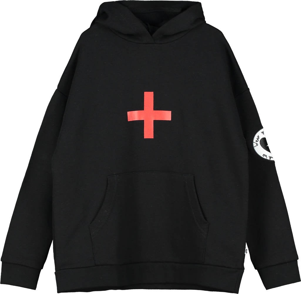 Beau Loves Black Cross Hoodie