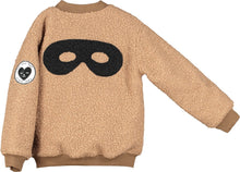 Load image into Gallery viewer, Beau Loves Sandstone Hero Mask Wool Bomber Jacket