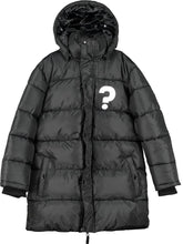 Load image into Gallery viewer, Beau Loves Black Loves Long Line Puffa