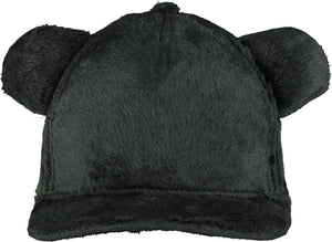 Beau Loves Charcoal Teddy Fur Cap