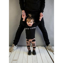 Load image into Gallery viewer, Beau Loves Black Grow Strong Baby Long Sleeved T Shirt