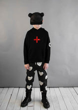 Load image into Gallery viewer, Beau Loves Black Cross Hoodie
