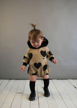 Load image into Gallery viewer, Beau Loves Sandstone Hearts Baby Hooded Romper