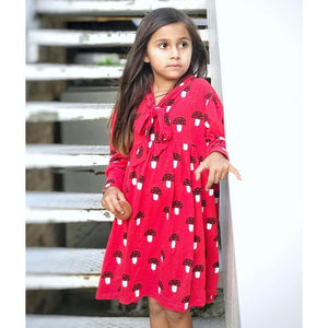 Kukukid Mushroom Bow Dress