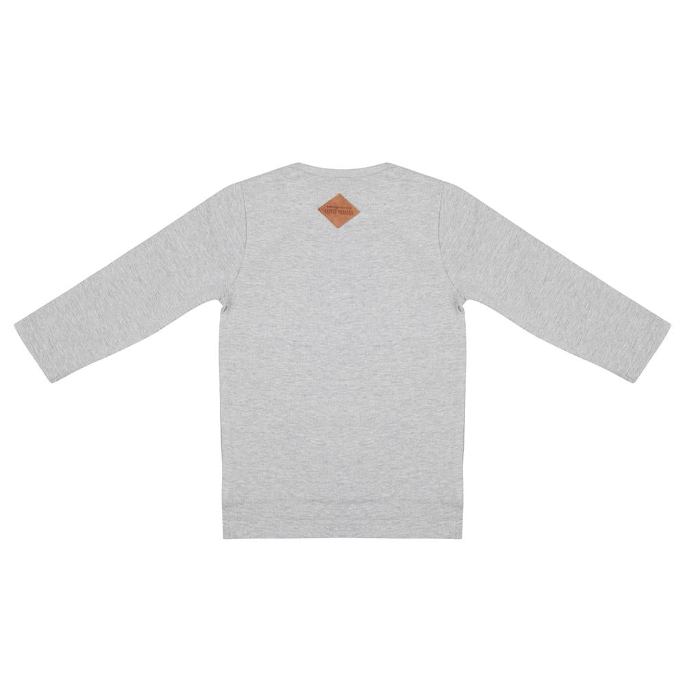 LITTLE INDIANS LONGSLEEVE GREY MELANGE