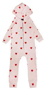 HUGO LOVES TIKI RED HEARTS JUMPSUIT