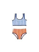 Load image into Gallery viewer, Tiny Cottons STRIPES SWIM SET / BLUE + CARMIN