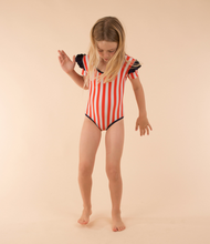 Load image into Gallery viewer, Tiny Cottons STRIPES & FRILLS SWIMSUIT