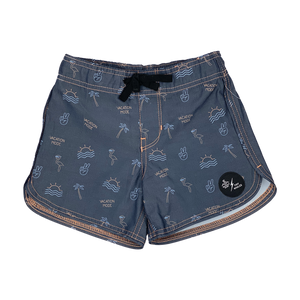 "TINY WHALES X SEAESTA SURF COLAB ""VACATION MODE"" BOARDSHORT LIMITED EDITION"