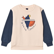 Load image into Gallery viewer, Bonmot Organic World Lovers Sweatshirt Navy