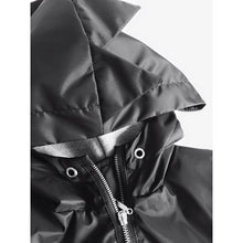 Load image into Gallery viewer, Kukukid Dino Raincoat - Black