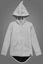 Load image into Gallery viewer, Kukukid Grey Dino Cotton Hoodie